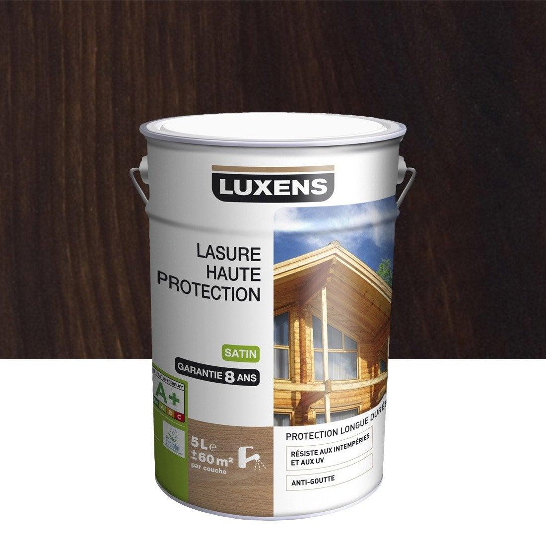 lasure luxens haute protection 5 l ch ne fonc leroy merlin. Black Bedroom Furniture Sets. Home Design Ideas