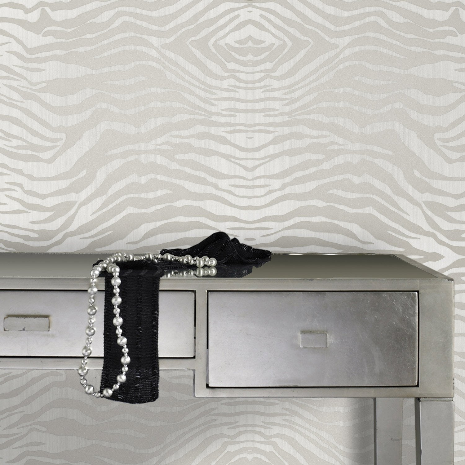papier peint intiss zebra gris leroy merlin. Black Bedroom Furniture Sets. Home Design Ideas