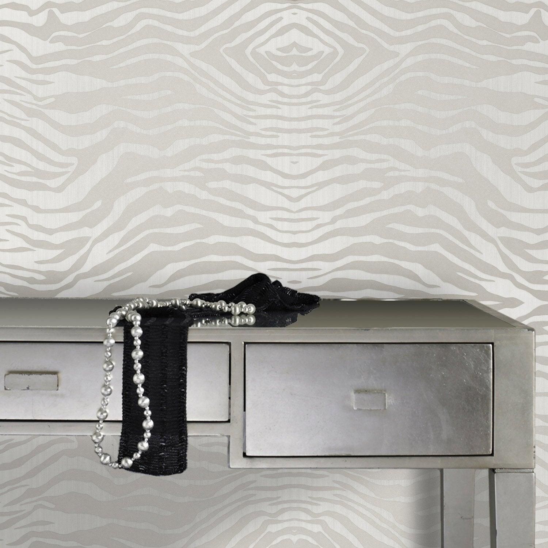Papier peint intiss zebra gris leroy merlin - Papier peint intisse ...