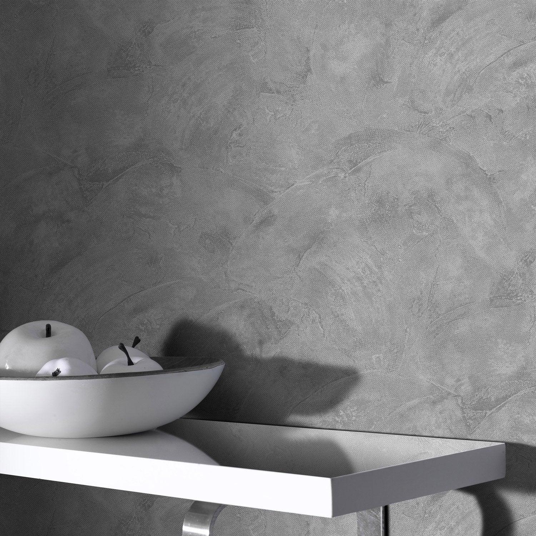 papier peint intiss ravenna gris leroy merlin - Papier Peint Cuisine Gris
