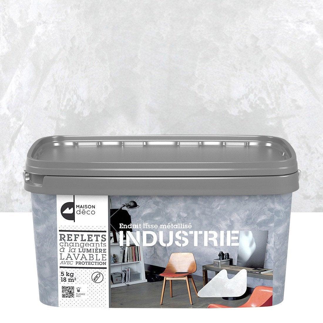 Peinture effet industrie maison deco fer blanc 5 kg - Peinture industrie leroy merlin ...