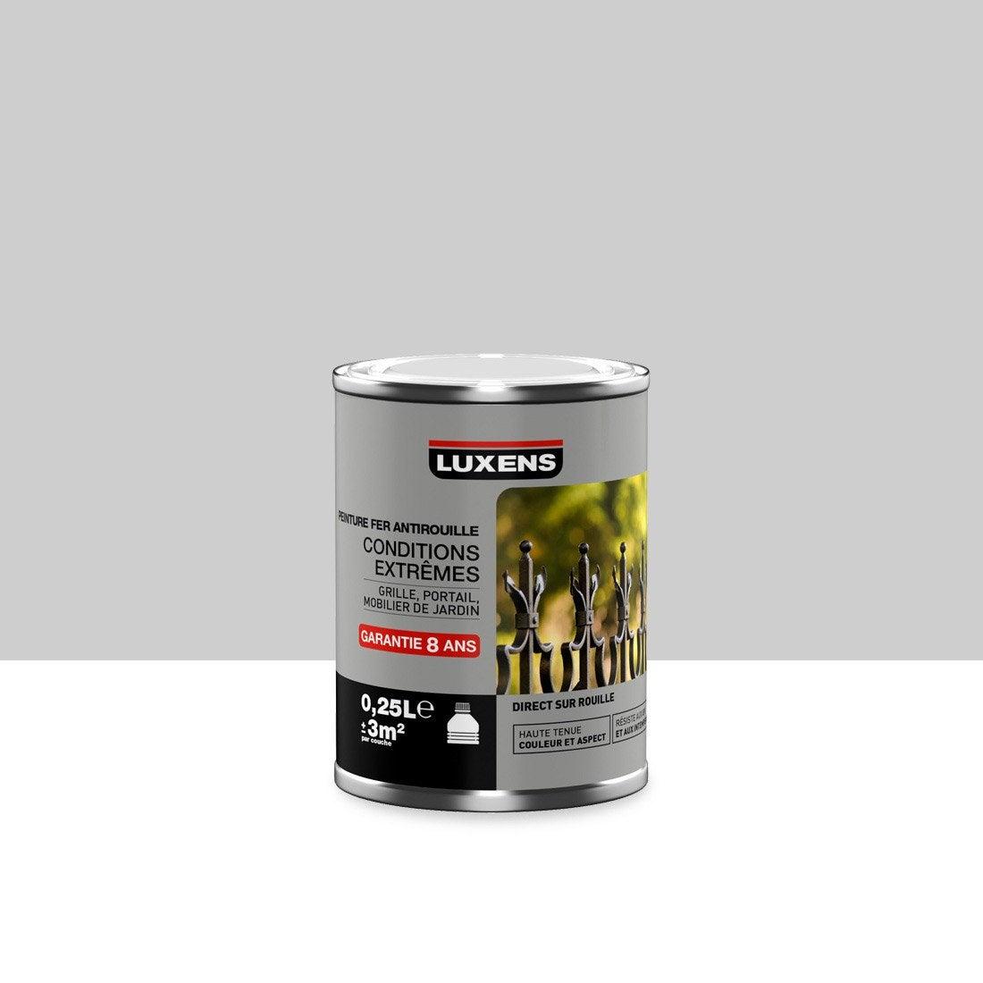 Peinture fer ext rieur luxens argent l leroy merlin for Peinture pvc exterieur