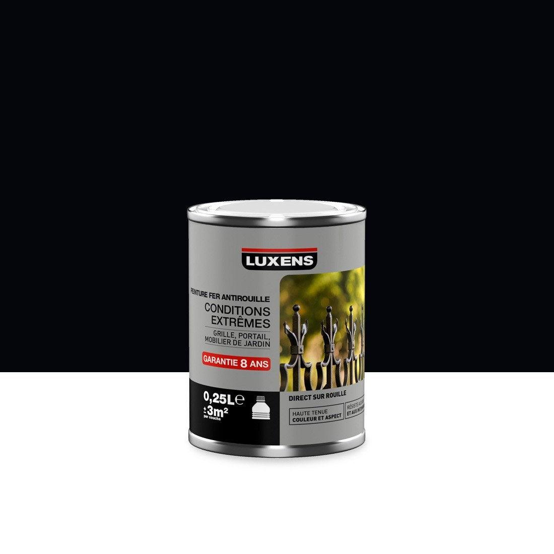 Peinture ferronnerie ext rieur antirouille luxens noir - Peinture tableau noir leroy merlin ...