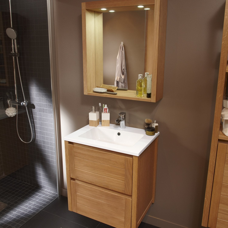 Pose d 39 un meuble de salle de bains simple vasque jusqu 39 for Meuble salle de bain teck leroy merlin