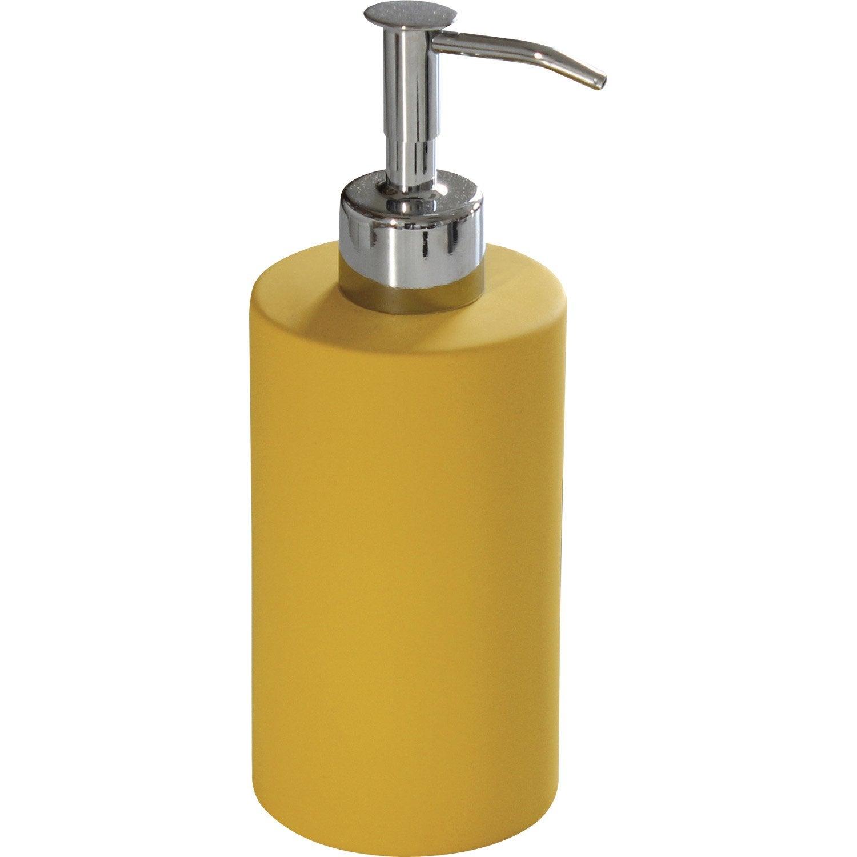 Distributeur de savon c ramique jaune anis n 4 leroy merlin - Carrelage ceramique leroy merlin ...