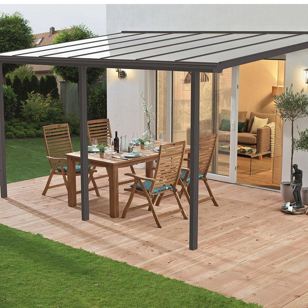 100 abri terrasse pergola sur mesure pergola alu classique toiture pol - Abri terrasse alu polycarbonate ...