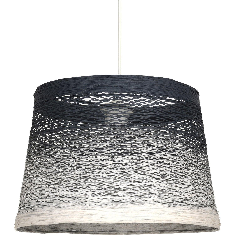suspension nature thread corde blanc et bleu 1 x 60 w corep leroy merlin. Black Bedroom Furniture Sets. Home Design Ideas