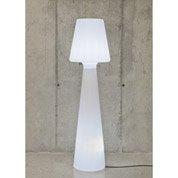 Lampadaire extérieur Lola 200 cm E27 15 W = 880x2 Lm, blanc NEWGARDEN