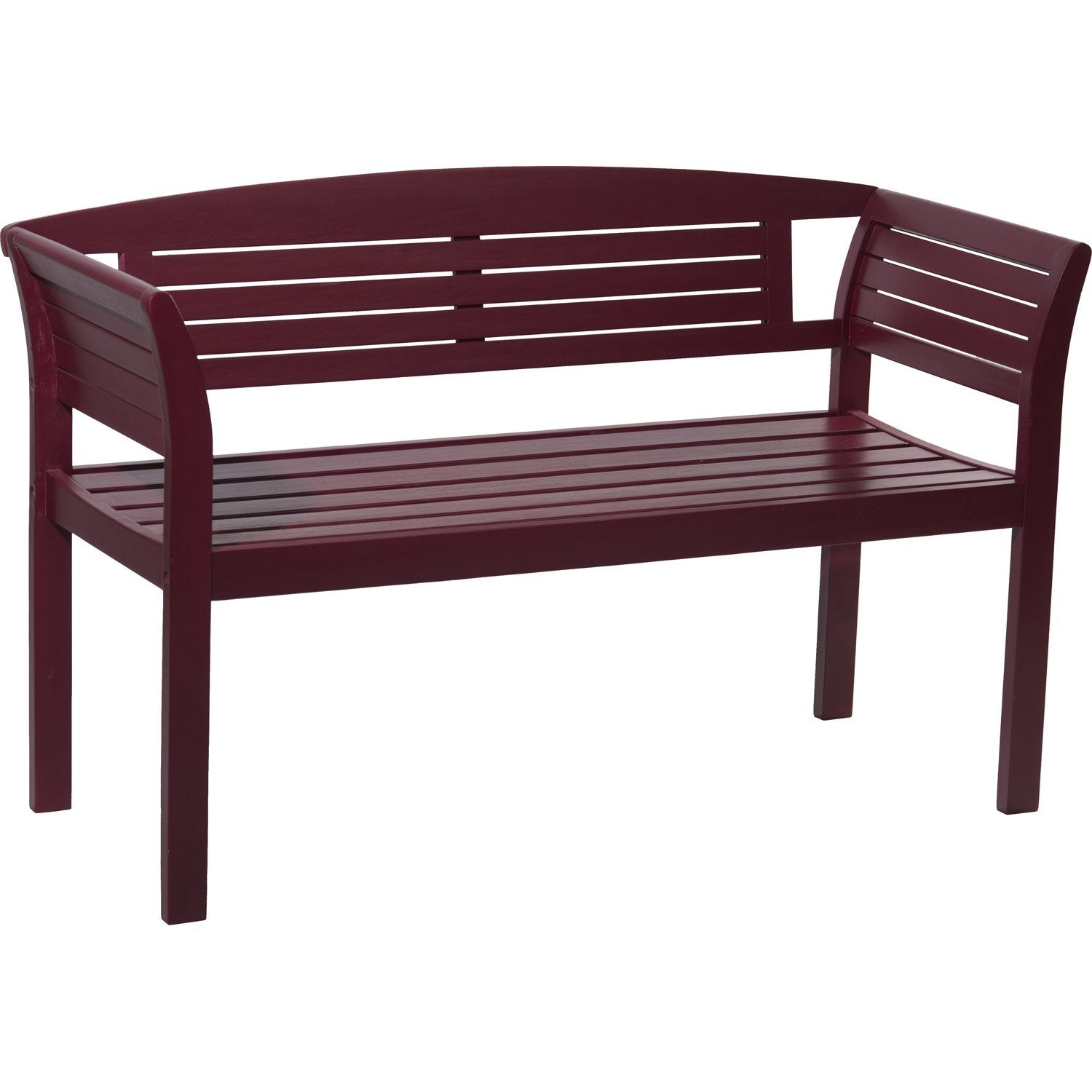 Banc 2 places de jardin en bois new york rouge leroy merlin for Banc de jardin leroy merlin