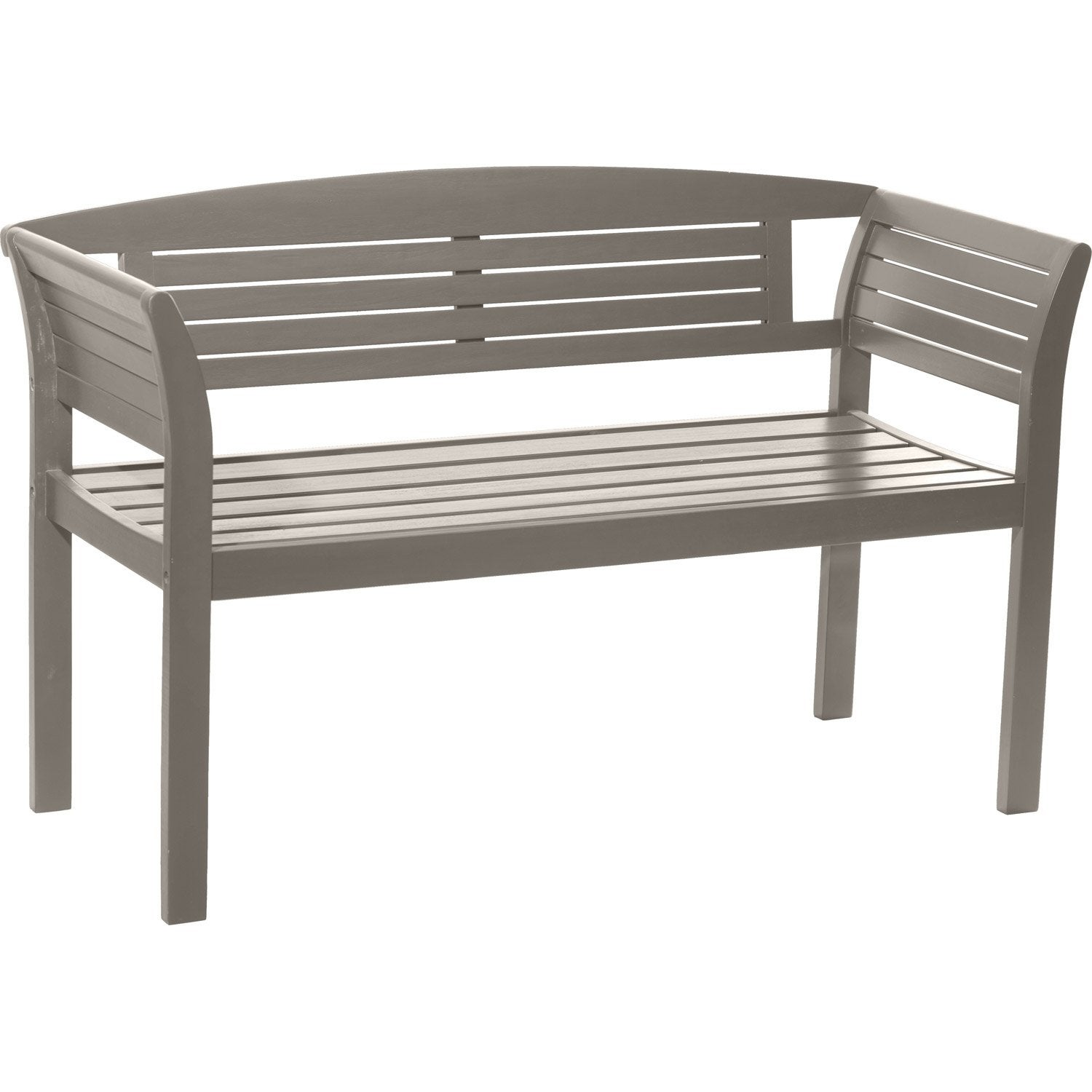 Banc 2 places de jardin en bois new york r glisse leroy for Banc jardin leroy merlin