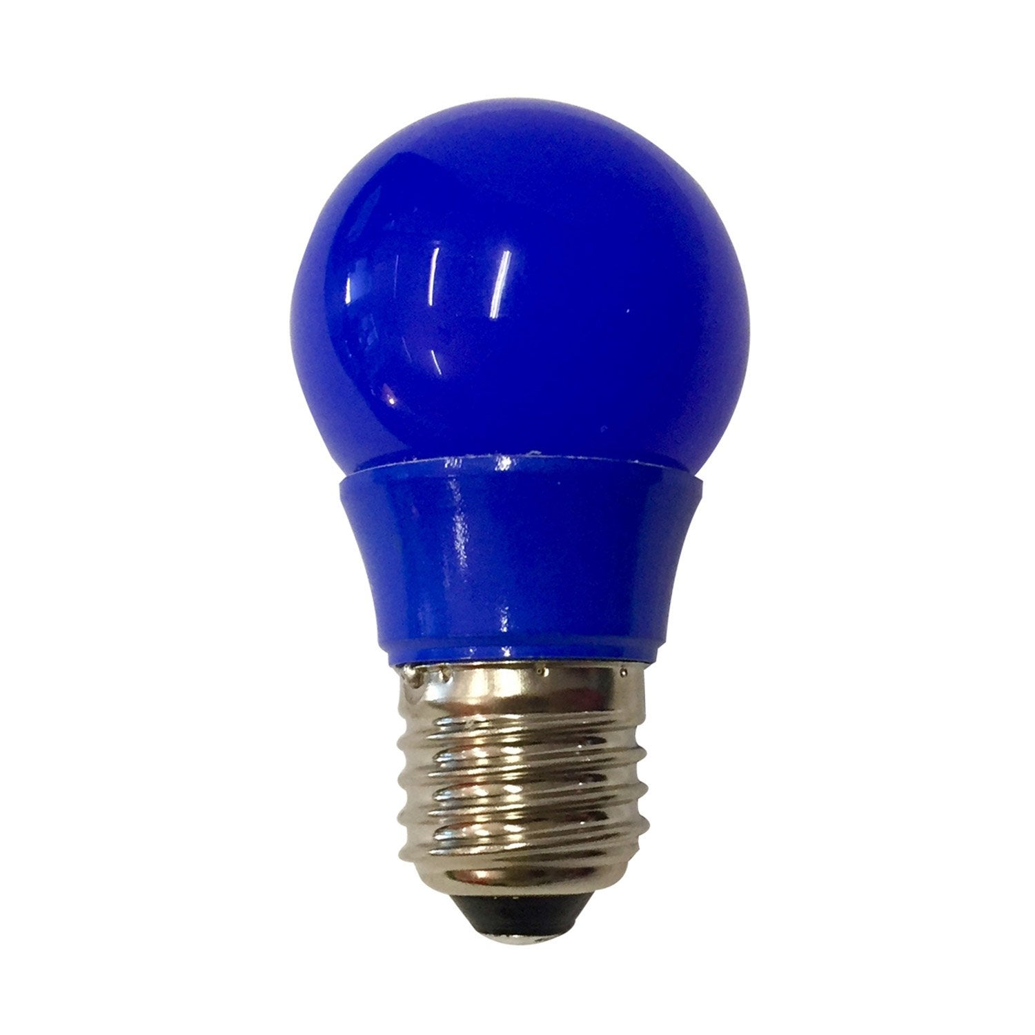 Ampoule sph rique led 2 5w 250lm e27 bleue lexman for Ampoule de couleur castorama