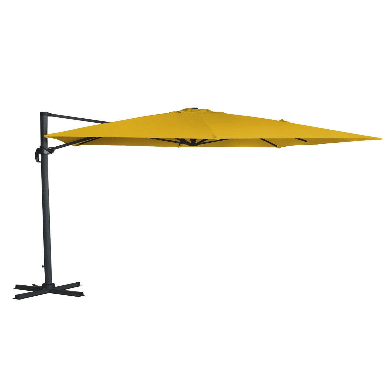 Parasol d port hera jaune rectangulaire x cm - Parasol deporte inclinable leroy merlin ...