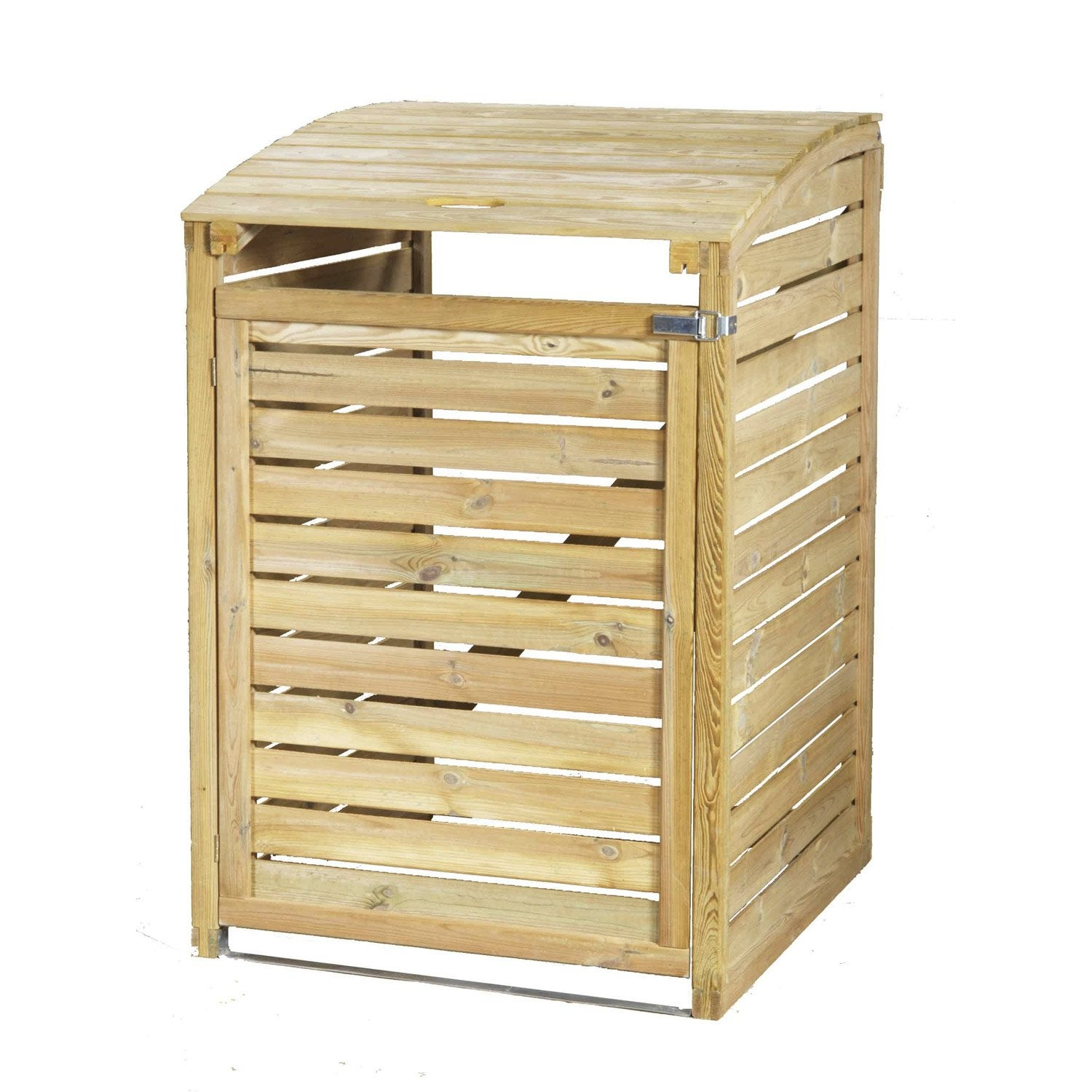 cache poubelle simple en bois simple m leroy merlin