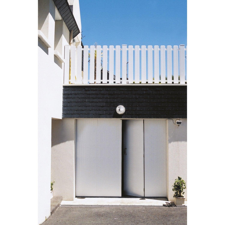 Porte de garage la fran aise artens pvc blanc 200 x - Porte de garage pvc blanc ...