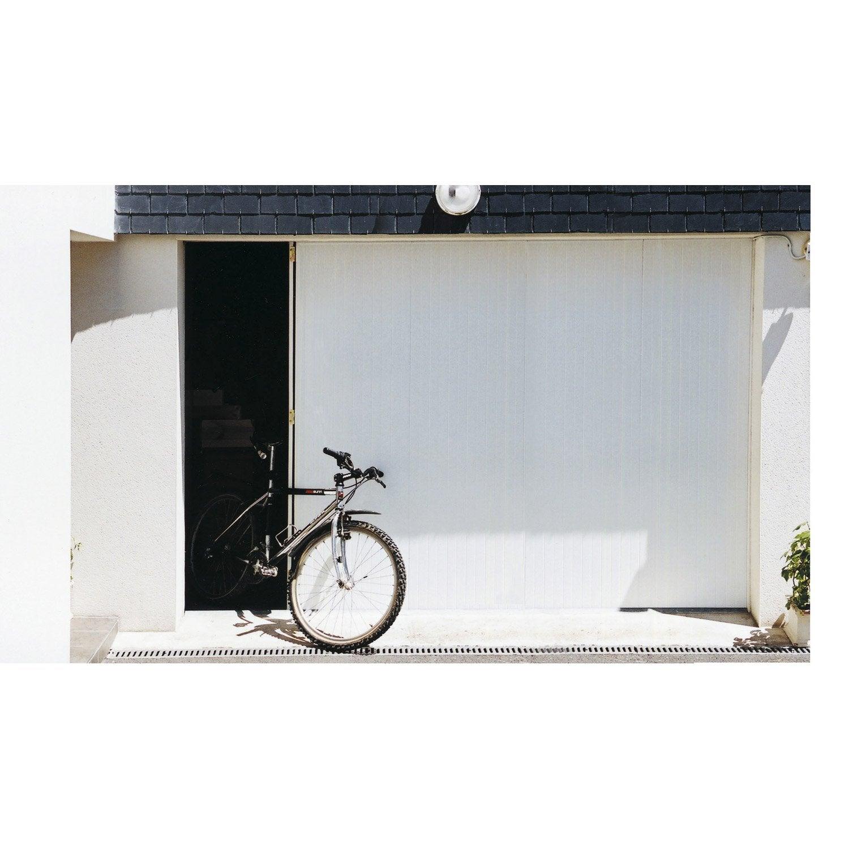 porte de garage coulissante manuelle portillon droit artens, 200 x