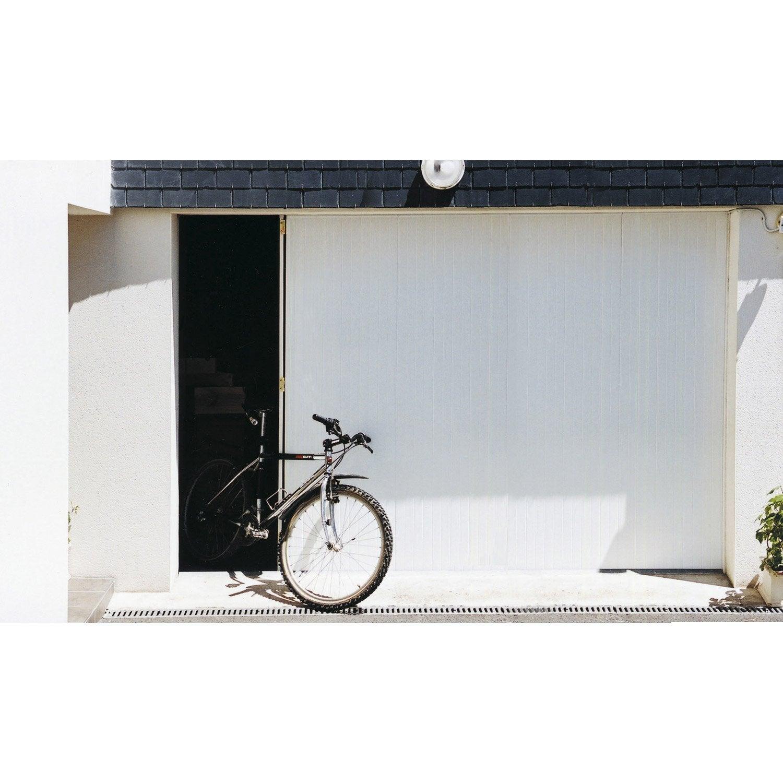 Porte de garage coulissante portillon droit artens x - Porte de garage avec portillon leroy merlin ...