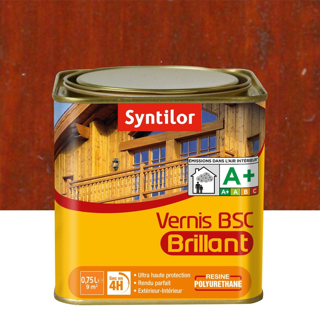 Vernis BSC brillant SYNTILOR, bois rouge, 075 L  Leroy Merlin ~ Vernis Bois Rouge