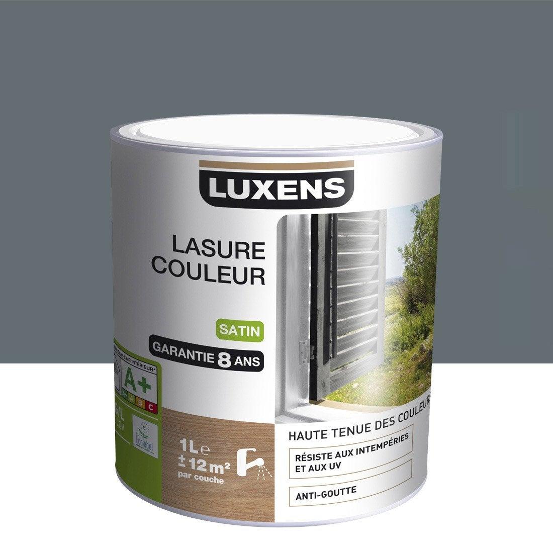 lasure luxens 1 l gris galet n 1 leroy merlin. Black Bedroom Furniture Sets. Home Design Ideas