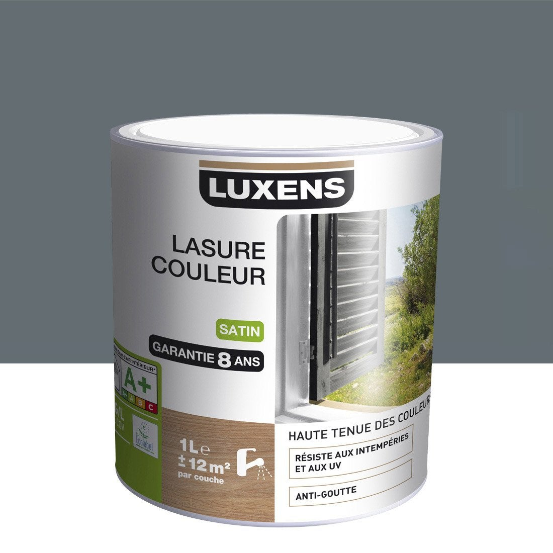 lasure luxens gris galet n 1 aspect satin 1 l leroy. Black Bedroom Furniture Sets. Home Design Ideas