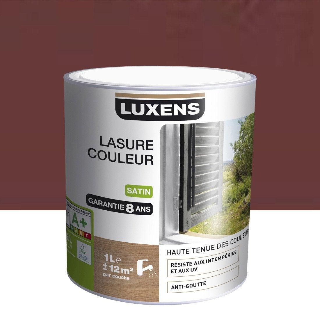 Lasure luxens 1 l rouge basque leroy merlin - Lasure leroy merlin ...