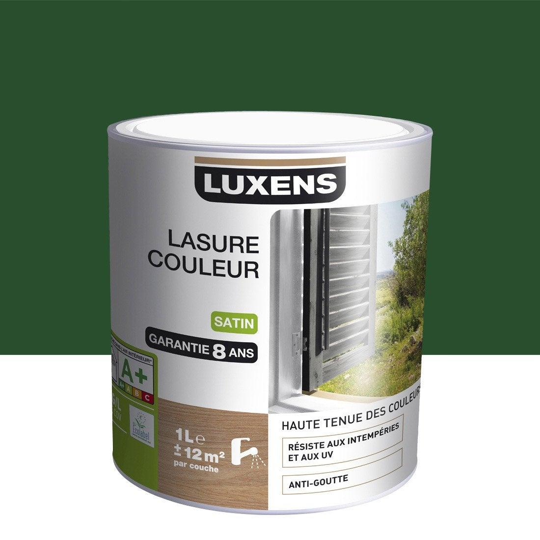 lasure luxens 1 l vert olivier leroy merlin. Black Bedroom Furniture Sets. Home Design Ideas