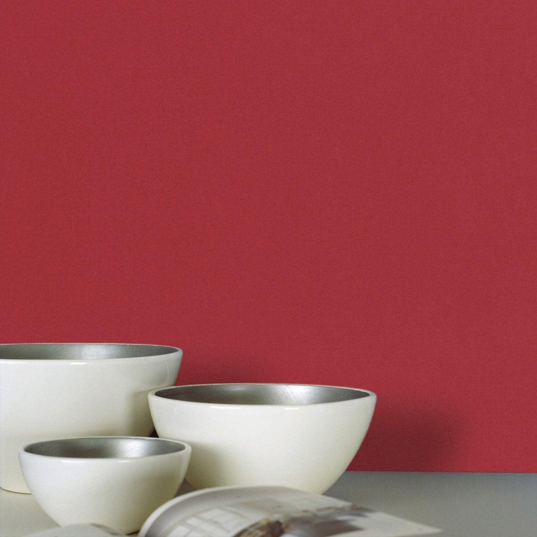 Papier peint intiss lisse mat rouge leroy merlin for Papier peint cuisine leroy merlin