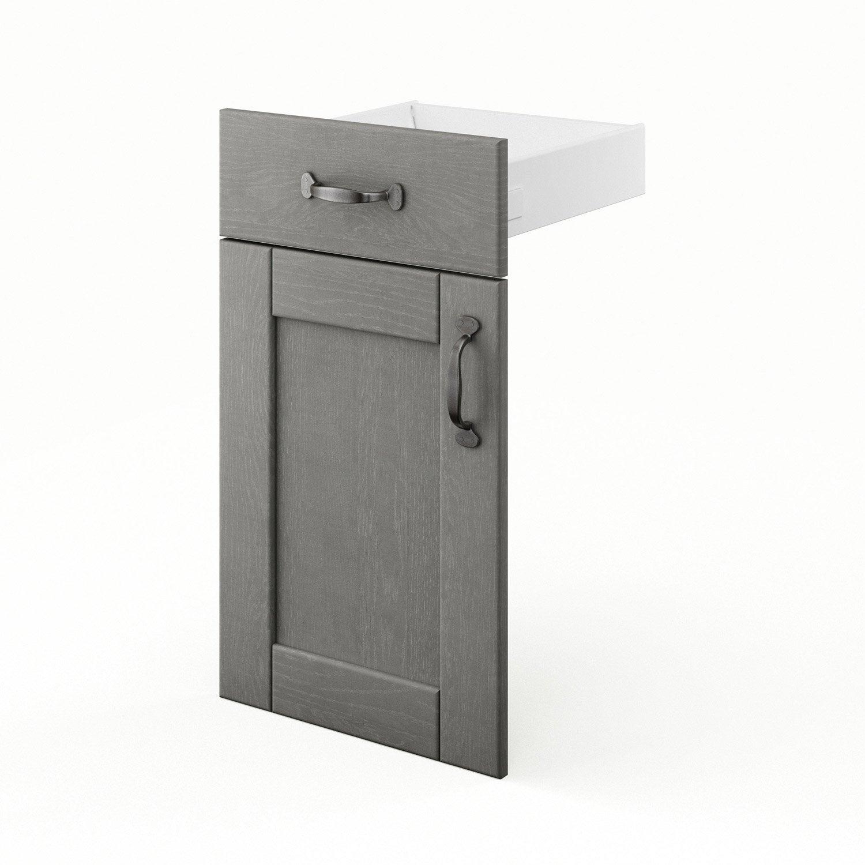Porte et tiroir de cuisine gris shadow x x for Porte 70 cm leroy merlin