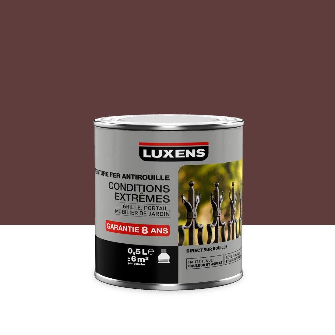 Peinture fer ext rieur antirouille luxens rouge basque 0 for Peinture exterieur leroy merlin