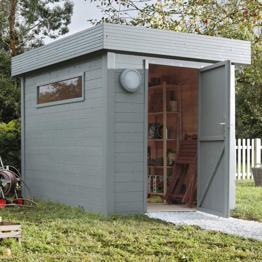 Pose d 39 un abri de jardin jusqu 39 10 m leroy merlin - Abris de jardin pvc leroy merlin ...