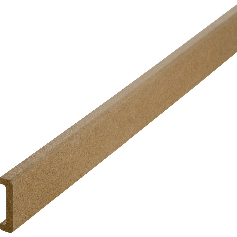 nez de cloison m dium mdf pour cloison de 50 mm 11 x 53 mm l 2 5 m leroy merlin. Black Bedroom Furniture Sets. Home Design Ideas
