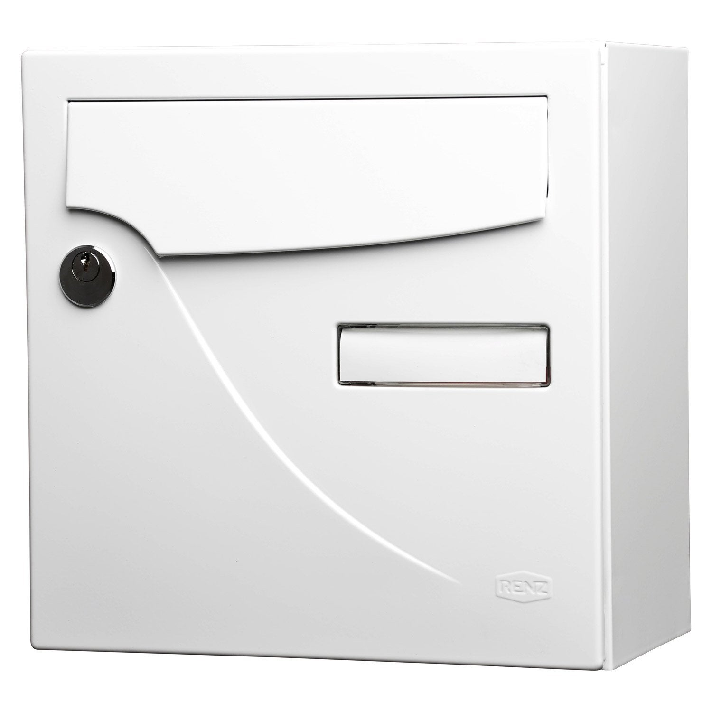 Bo te aux lettres compacte 1 porte renz essentiel acier blanc leroy merlin - Renz boites aux lettres ...