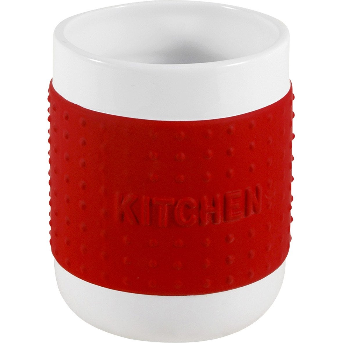 Pot range couverts c ramique rouge rouge n 3 leroy merlin - Range couvert leroy merlin ...