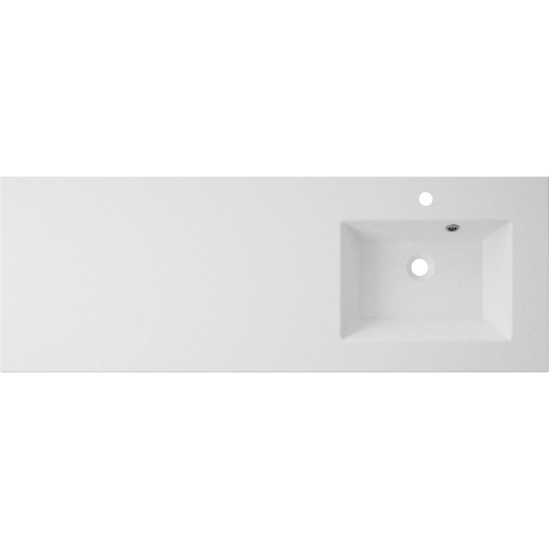 Plan vasque simple modern 135 cm leroy merlin for Plan vasque leroy merlin