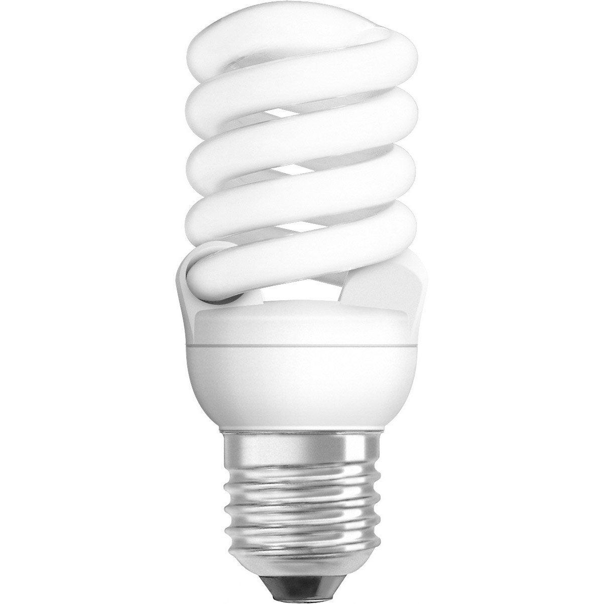 ampoule spirale conomie d 39 nergie 14w osram e27 lumi re. Black Bedroom Furniture Sets. Home Design Ideas
