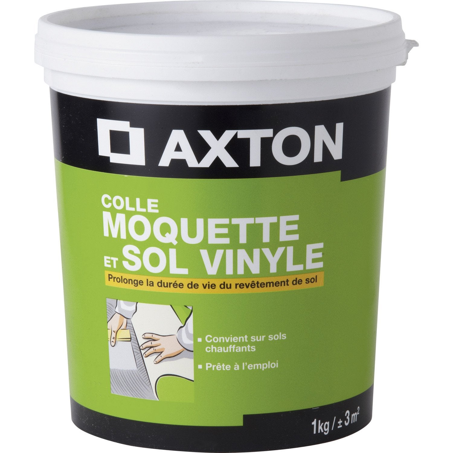Colle sol souple 1 kg axton leroy merlin for Colle souple pour carrelage