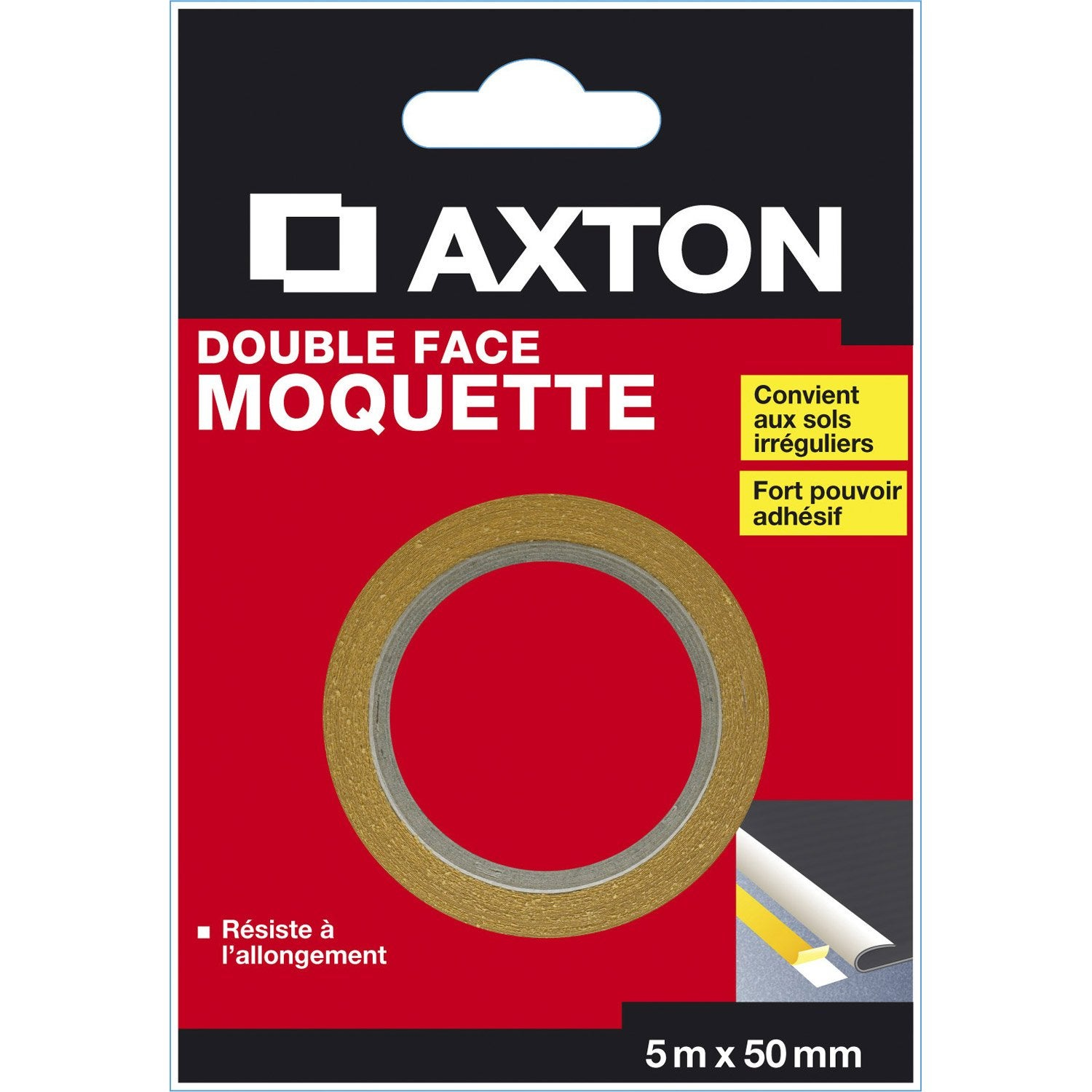 Double face moquette axton 50 mm x 5 - Double face leroy merlin ...