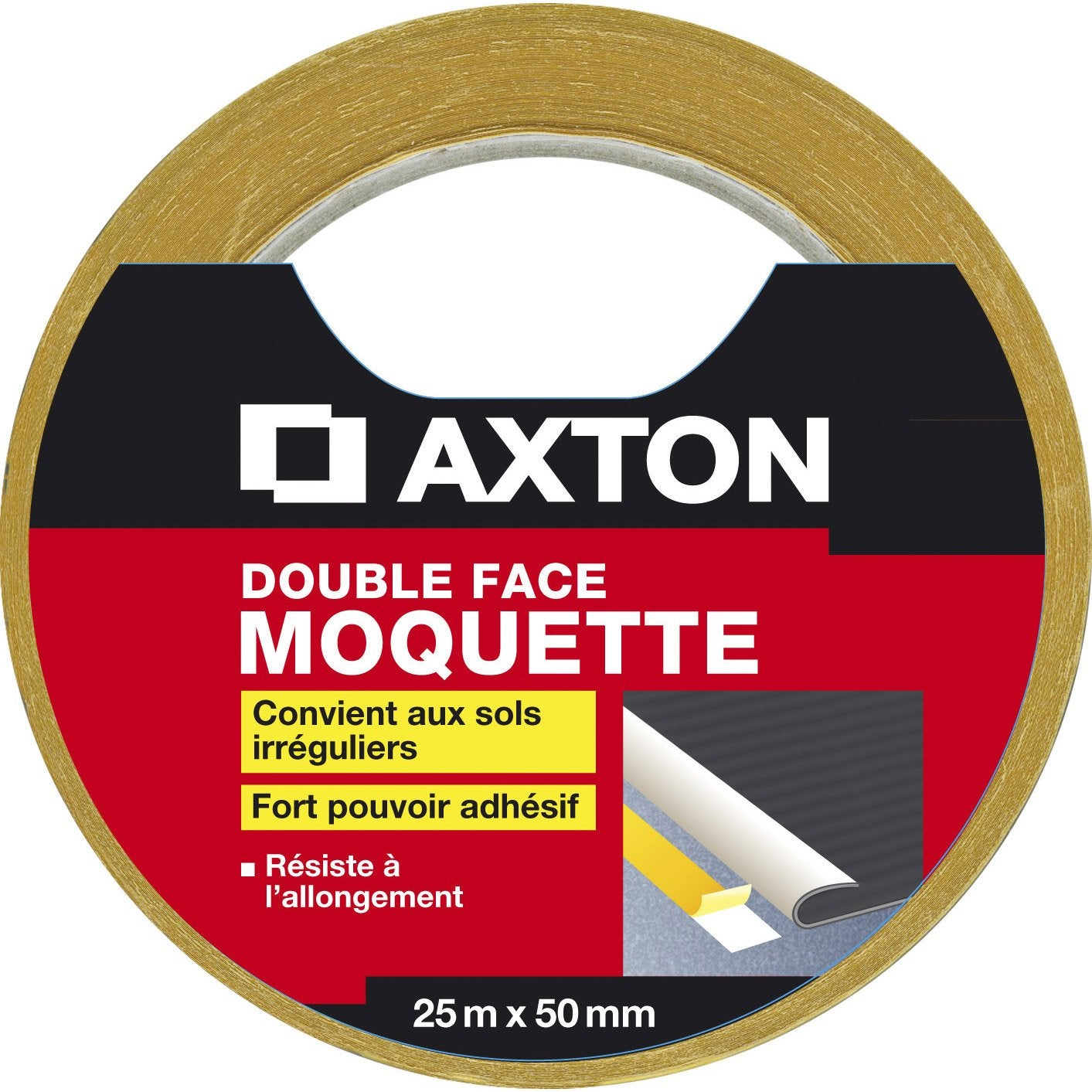 Double face moquette axton 50 mm x 25 m leroy merlin - Double face leroy merlin ...