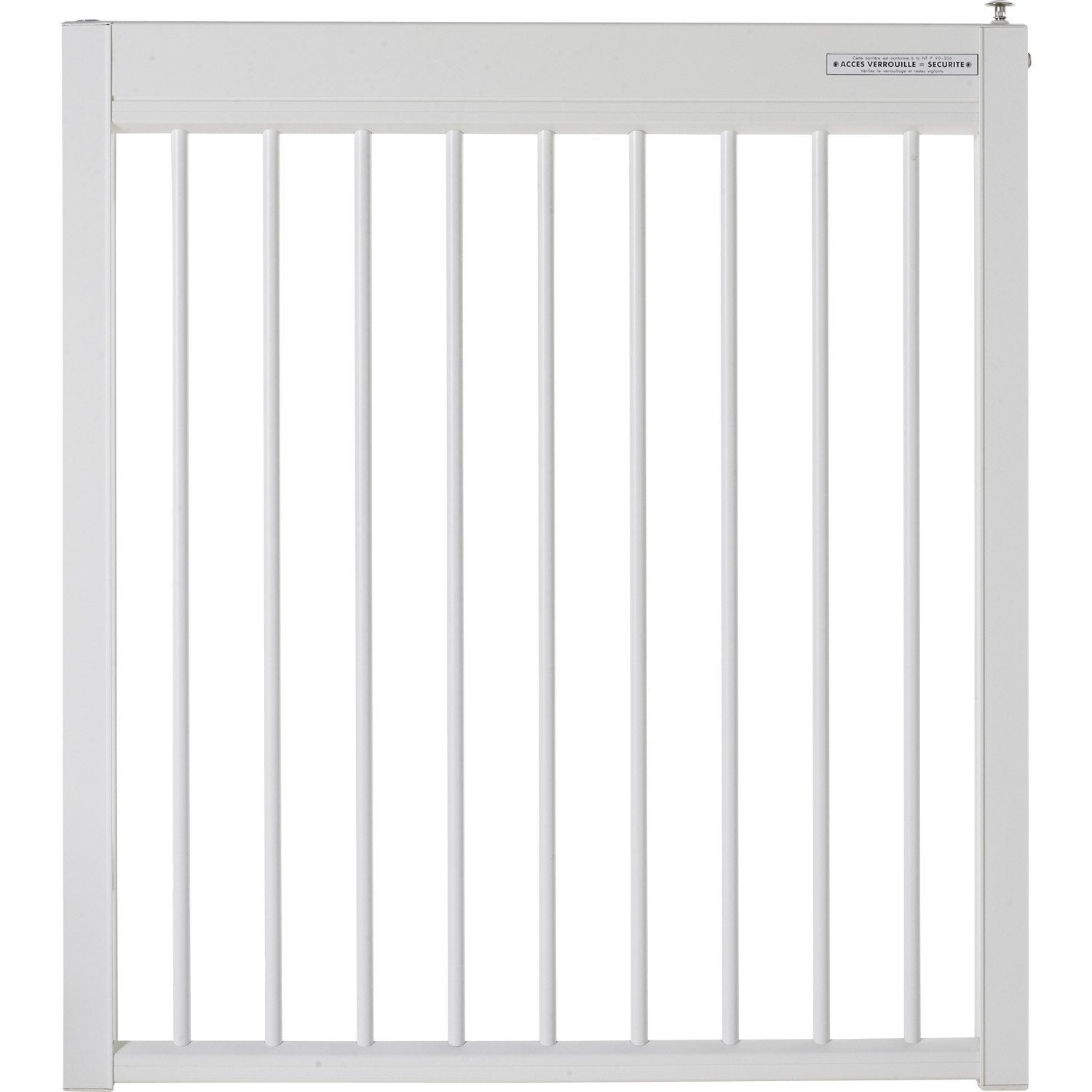 Portillon pour piscine aluminium issambres blanc 9010 h for Portillon pour piscine