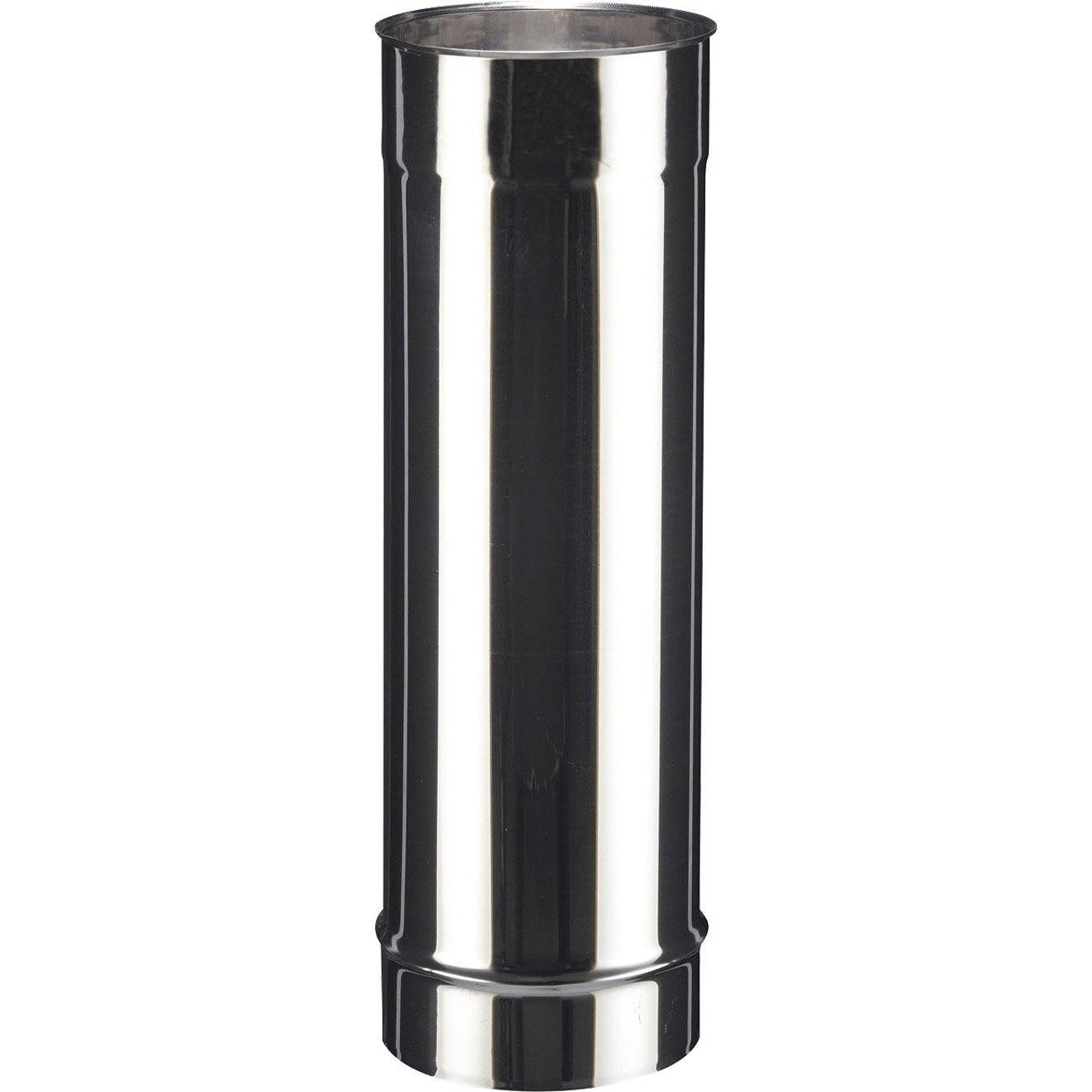 tuyau inox de raccordement poujoulat diam 150 mm 50 cm leroy merlin. Black Bedroom Furniture Sets. Home Design Ideas