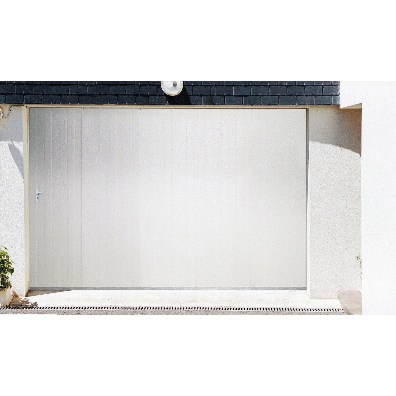Porte de garage coulissante portillon droit artens x - Porte coulissante artens leroy merlin ...