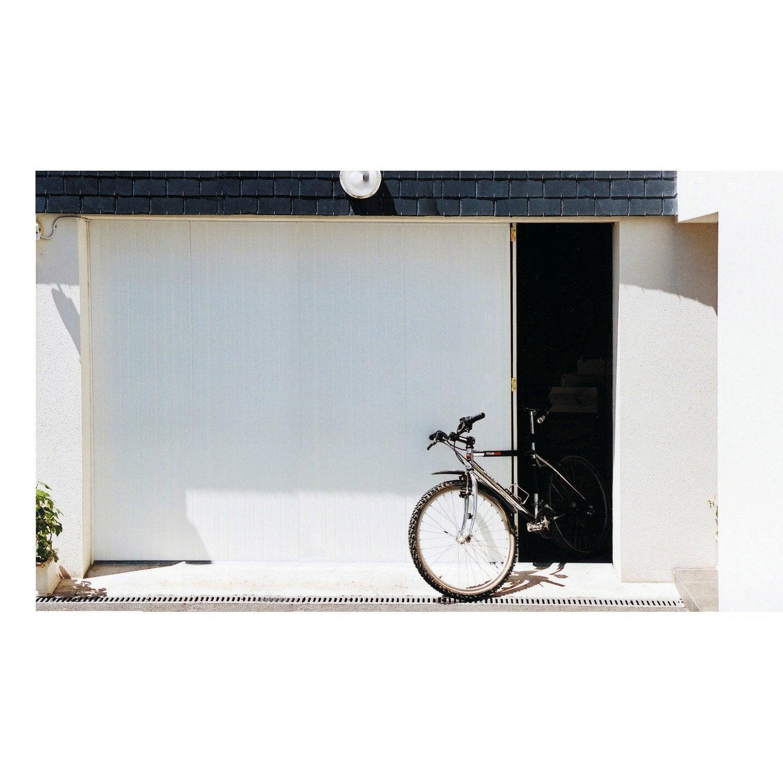 Porte de garage coulissante portillon gauche artens - Porte de garage avec portillon leroy merlin ...