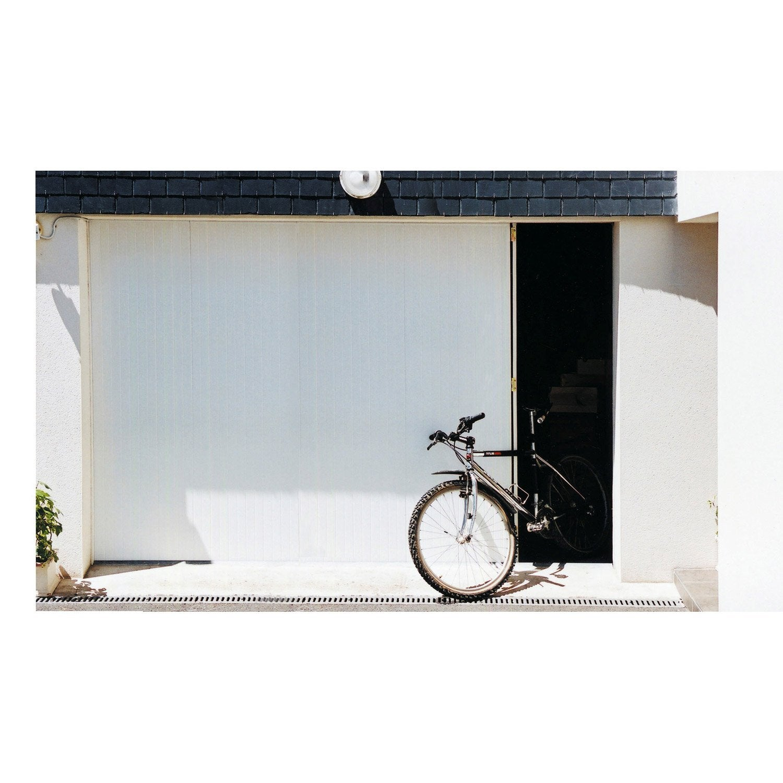 Porte de garage coulissante portillon gauche artens for Porte de garage 200 300