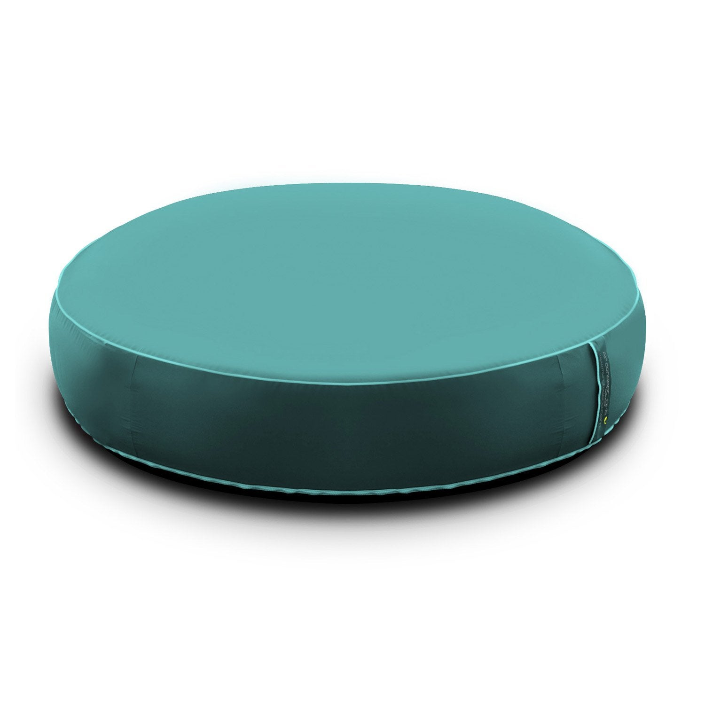 pouf de sol my note deco uni turquoise leroy merlin. Black Bedroom Furniture Sets. Home Design Ideas
