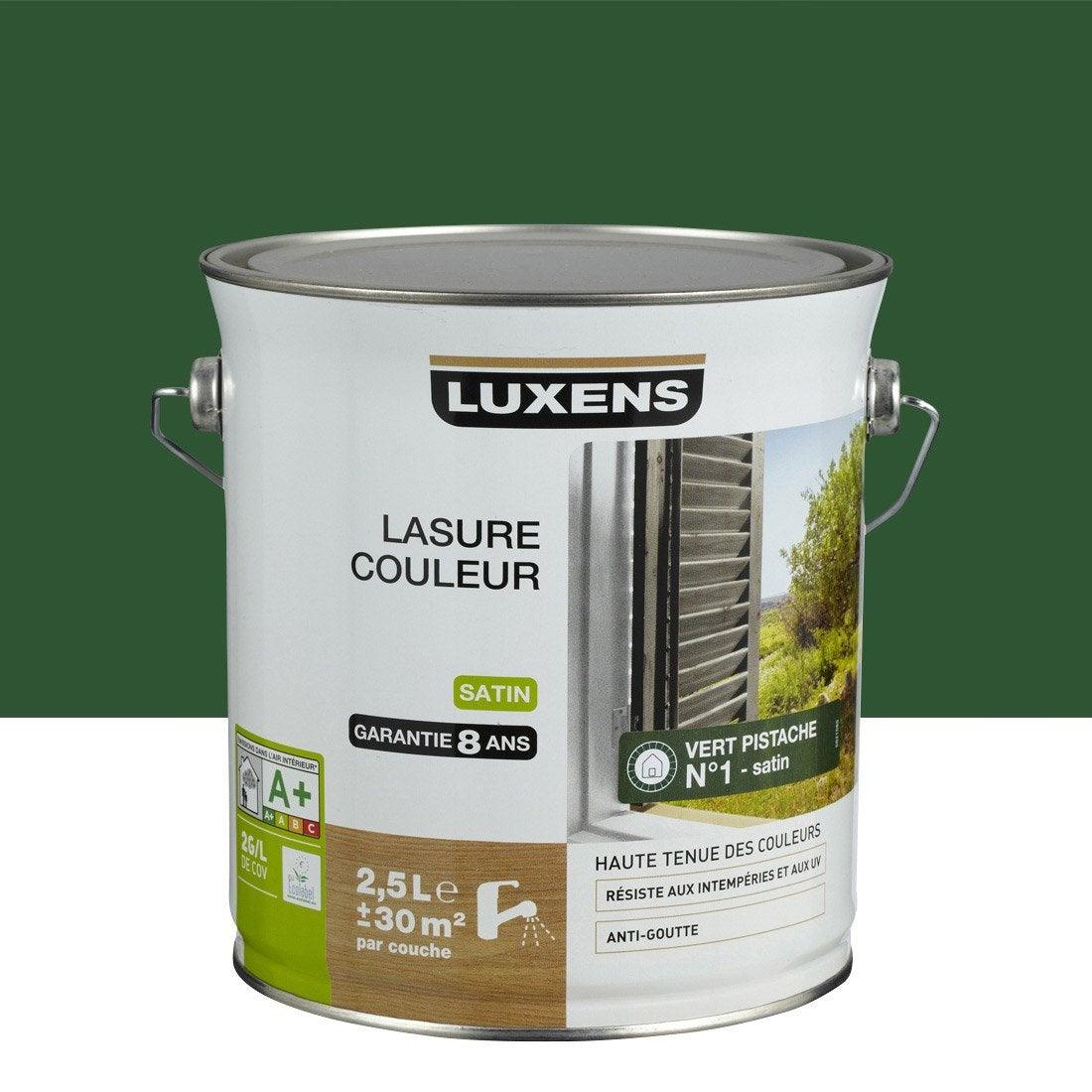 lasure luxens vert pistache aspect satin 2 5 l leroy. Black Bedroom Furniture Sets. Home Design Ideas