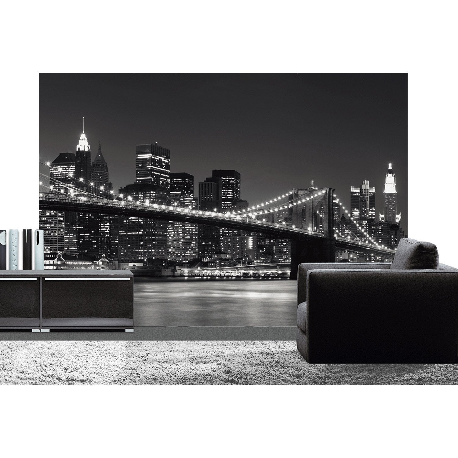 Poster xxl de mur new york skyline deco wall x for Tableau lumineux new york