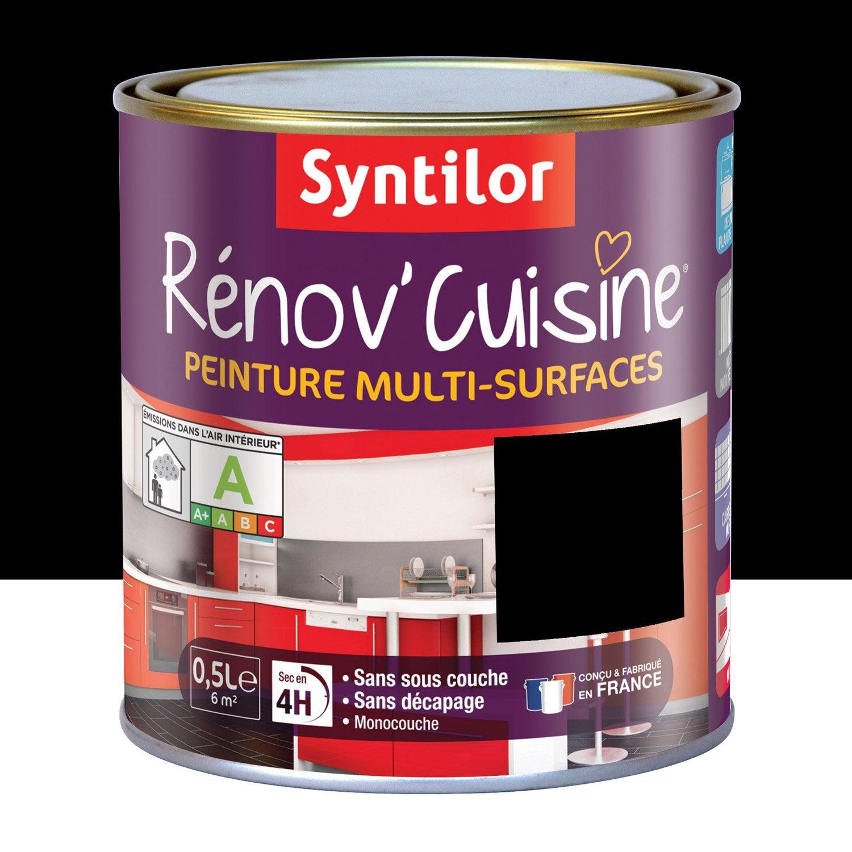 Peinture de r novation r nov 39 cuisine syntilor noir 0 5 l - Leroy merlin peinture effet metal ...