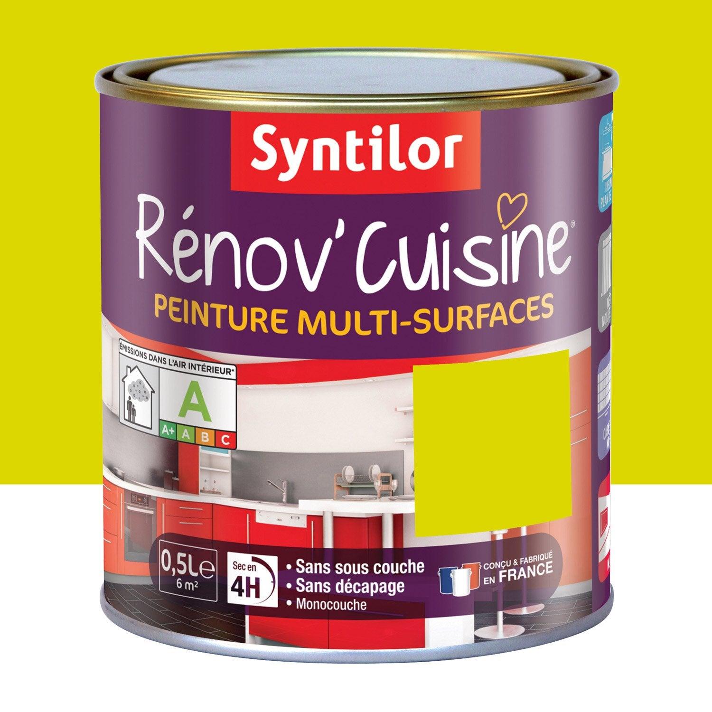 Peinture r nov 39 cuisine syntilor vert pom 39 pomme 0 5 l for Peinture vert pomme