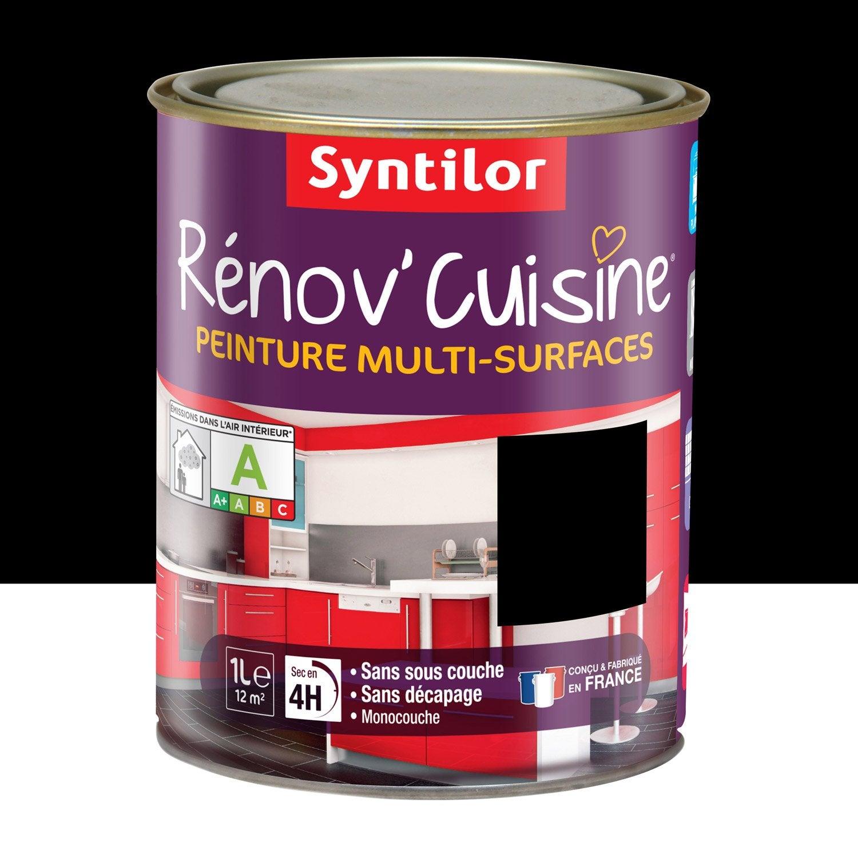Peinture r nov 39 cuisine syntilor noir 1 l leroy merlin - Peinture cuisine leroy merlin ...
