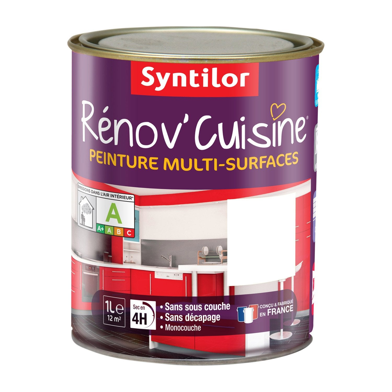 Peinture r nov 39 cuisine syntilor blanc 1 l leroy merlin - Peinture carrelage leroy merlin ...