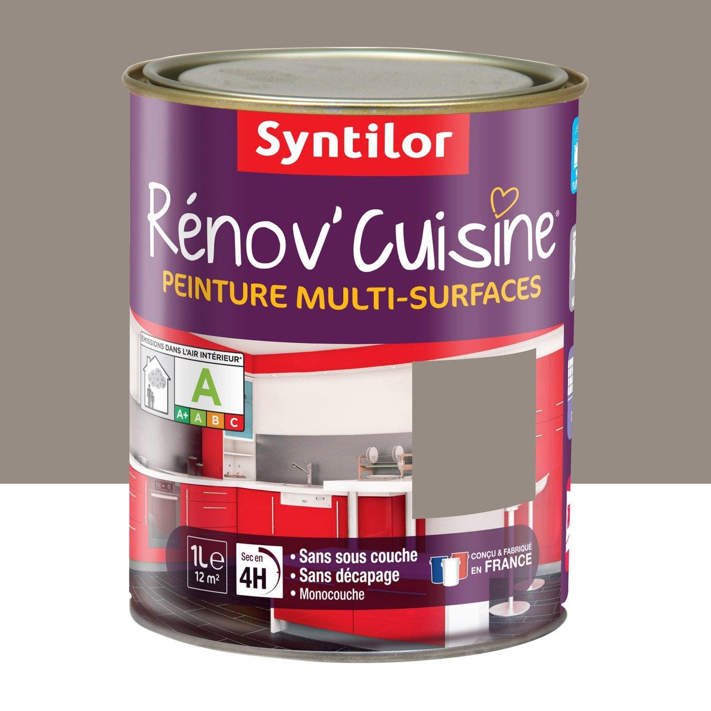 Peinture r nov 39 cuisine syntilor brun macaron 1 l leroy merlin - Leroy merlin prix peinture ...